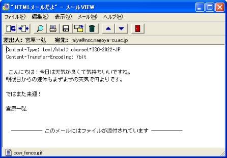 メール は html と